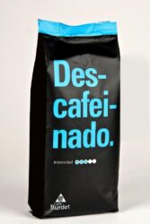 Cafe Burdet® Descafeinado Alacant beans 1 kg of 100% Arabica decaffei - Washed coffe from Brazil. With an intense aroma but smooth taste. Well bodied and no caffeine. Ideal for those coffe lovers.