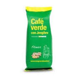 Zelená mletá nepražená káva se zázvorem 100%Arabica z Brazilie 100g-Zelená čistá káva se zázvorem nejprodávanější produkt na hubnutí v Evropě.