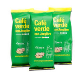 Zelená mletá nepražená káva se zázvorem 100%Arabica z Brazilie 100g